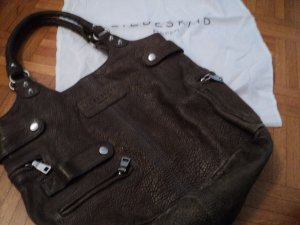 Liebeskind Sac porté épaule gris brun-brun foncé cuir