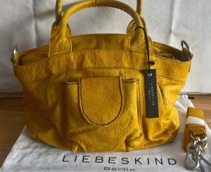 Liebeskind Berlin Schoudertas donkergeel-goud Oranje Leer