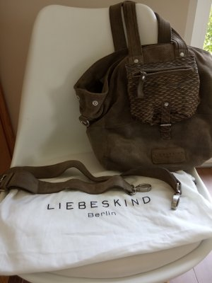 Liebeskind Handbag silver-colored suede