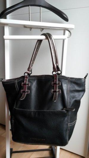 Liebeskind Tasche, Leder, Handtasche, metallic