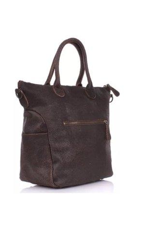 Liebeskind Berlin Shopper dark brown-black leather
