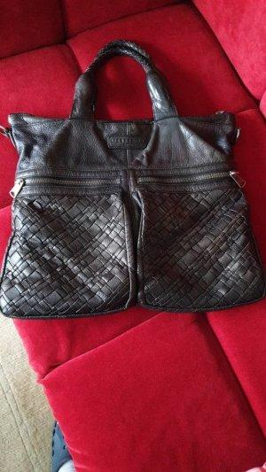 Liebeskind Shopper dark brown-black leather