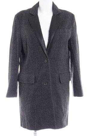 Liebeskind Between-Seasons-Coat black-grey zigzag pattern casual look