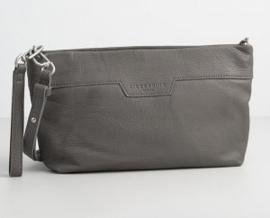 Liebeskind Crossbody bag dark grey leather