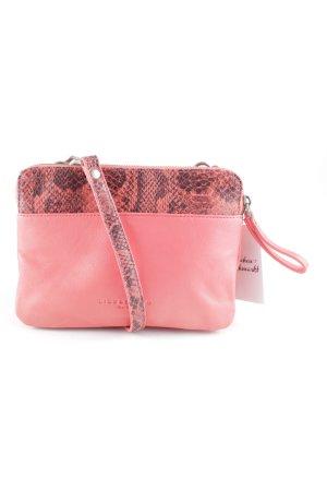 Liebeskind Borsa a spalla rosa-rosa motivo animale stile minimalista