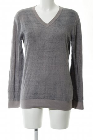 Liebeskind V-Neck Sweater light grey flecked casual look