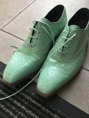 Liebeskind Lace Shoes turquoise leather