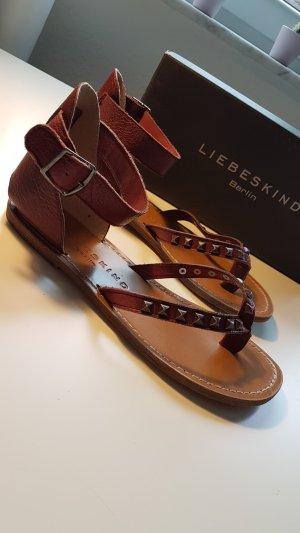 Liebeskind Berlin High-Heeled Toe-Post Sandals bordeaux