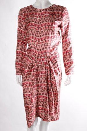 Liebig Midi-Kleid lachsfarben gemustert