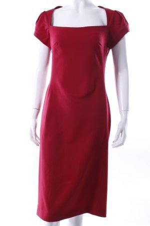Liebig Wollkrepp-Kleid dunkelrot
