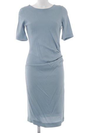 Liebig Wollkrepp-Kleid eisblau