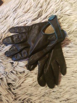 Bijou Brigitte Gloves black-petrol