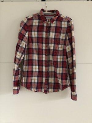 Camisa de leñador rojo oscuro-blanco puro