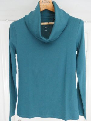 Zero Turtleneck Shirt cadet blue cotton