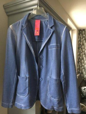 Lieblingsstück Blazer de tela de sudadera azul aciano