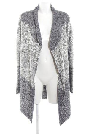 Lieblingsstück Veste tricotée en grosses mailles gris clair-blanc moucheté