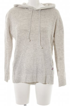 Lieblingsstück Hooded Sweater light grey-grey flecked casual look