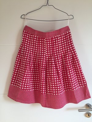 Only Circle Skirt white-red