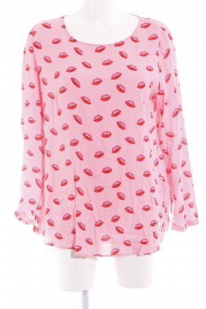 Lieblingsstück Langarm-Bluse rosa Motivdruck Romantik-Look