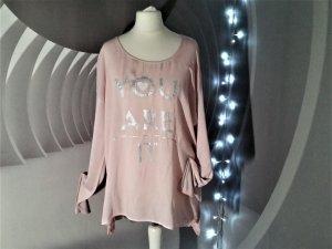 Lieblingsstück Longshirt Oversize Rosa L 42 mit Motiv