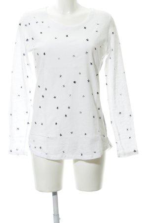 Lieblingsstück Longsleeve weiß-schwarz Sternenmuster Street-Fashion-Look