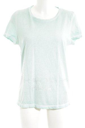 Lieblingsstück Print-Shirt türkis-silberfarben Business-Look