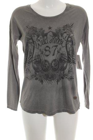 Lieblingsstück Print-Shirt schwarz-grau abstraktes Muster Casual-Look