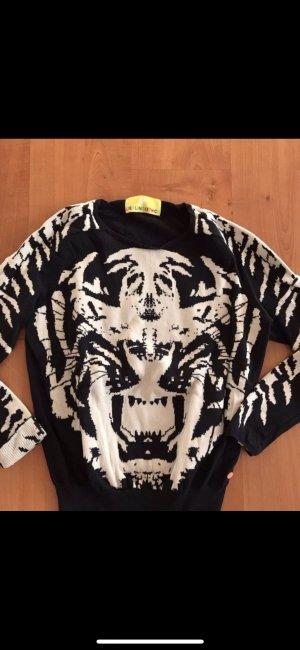 Lieblingsstück Pullover Pulli schwarz mit Tiger Gr. S/M