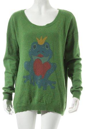 Lieblingsstück Rundhalspullover grün Casual-Look