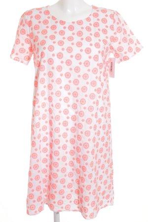 Lieblingsstück Shirtkleid neonpink-weiß abstraktes Muster Casual-Look
