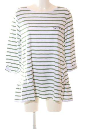 Lieblingsstück Shirttunika weiß-grün Schriftzug gedruckt Casual-Look