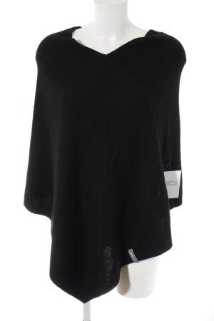 Lieblingsstück Poncho in maglia nero stile classico