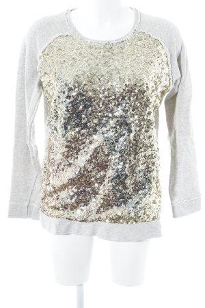 Lieblingsstück Sweatshirt hellgrau-goldfarben Glitzer-Optik