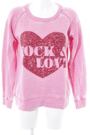 Lieblingsstück Sweatshirt pink-dunkelrot Farbtupfermuster Romantik-Look