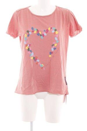 Lieblingsstück T-Shirt rot Motivdruck Casual-Look