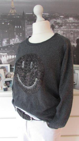 Lieblingsstück * Traum Sweater SMILEY * anthrazit Glitzer * 42