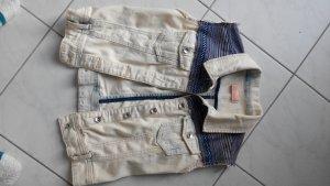 Denim Vest white-dark blue