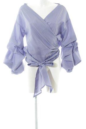 Liesel Camicetta aderente blu-bianco motivo a quadri elegante