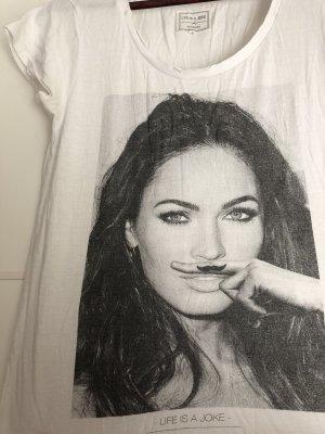 Eleven Paris Shirt met print wit-zwart