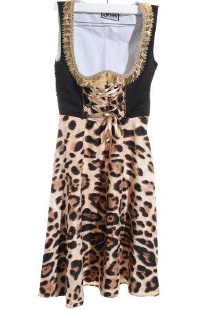Lifos Dirndl leopard pattern casual look
