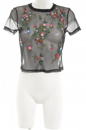 Light Before Dark Netzshirt Blumenmuster Elegant