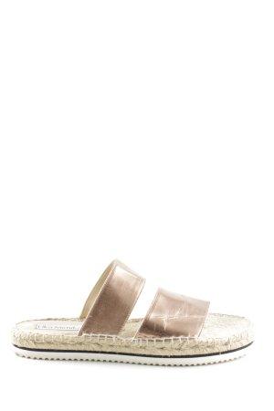 Lika Mimika Espadrilles-Sandalen bronzefarben-wollweiß Casual-Look
