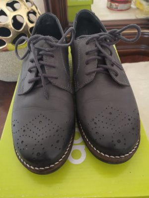 Arizona Wingtip Shoes dark grey leather