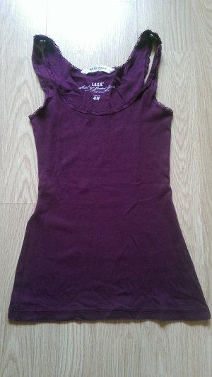 H&M Top básico púrpura