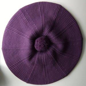 Lila Baskenmütze aus Baumwolle