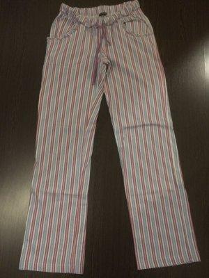 lila blau weiß rosa gestreifte Schlafanzugshose / Schlafhose / Jogginghose von Lascana - Gr. 32/34 - wenig getragen