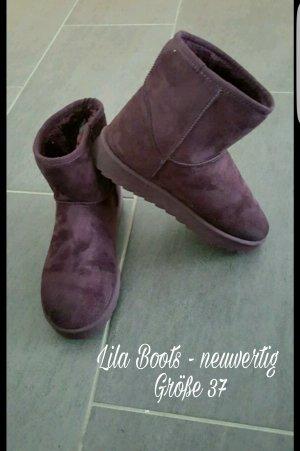 Lila Boots - nur 1x getragen