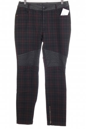 lila braun Hoge taille broek zwart-bordeaux geruite print