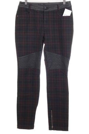 lila braun Pantalón de cintura alta negro-burdeos estampado a cuadros