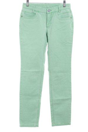 lila braun Slim Jeans hellgrün Bleached-Optik